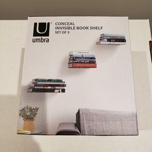 BNIB Umbra Conceal Invisible Book Shelf
